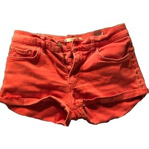Zara premium deminwear collection/ red shorts